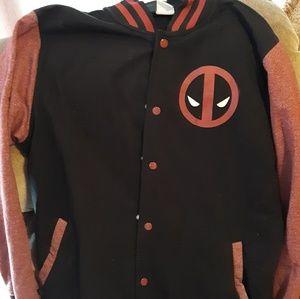 Marvel Deadpool mens medium varsity jacket